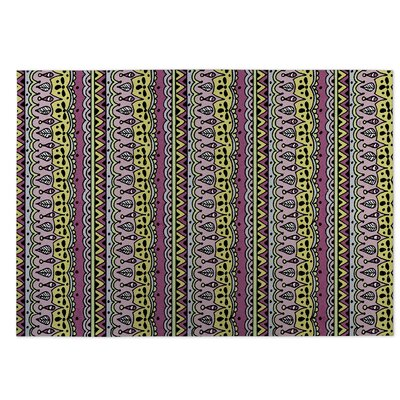 Sediments Purple Indoor/Outdoor Doormat Rug Size: 4 x 5