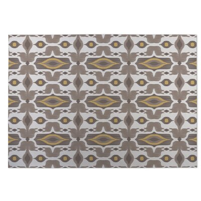Mojave Brown/Yellow Indoor/Outdoor Doormat Rug Size: 5 x 7