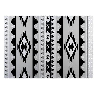 Gray/Black Indoor/Outdoor Doormat Rug Size: 8 x 10