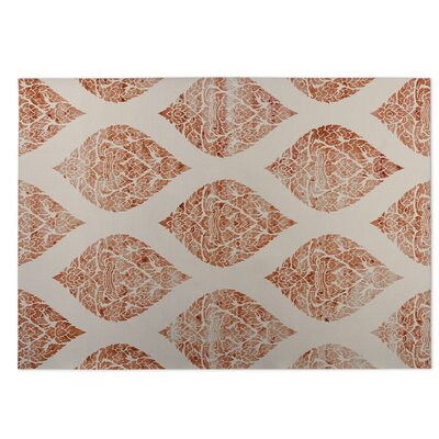 Fortney Orange Indoor/Outdoor Doormat Size: Square 8