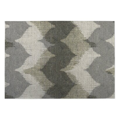 Bodhi Gray Indoor/Outdoor Doormat Mat Size: Square 8