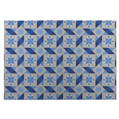 Blue Indoor/Outdoor Doormat Rug Size: Square 8
