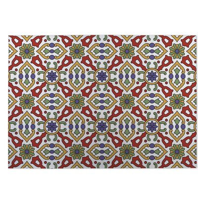 Red/Green Indoor/Outdoor Doormat Rug Size: Square 8