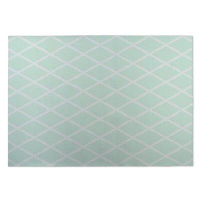 Lattice Work Green Indoor/Outdoor Doormat Rug Size: 8 x 10