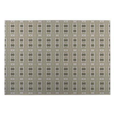 Crossroads Beige Indoor/Outdoor Doormat Rug Size: 5 x 7