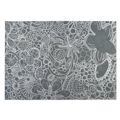 Expressions Gray Indoor/Outdoor Doormat Rug Size: Square 8