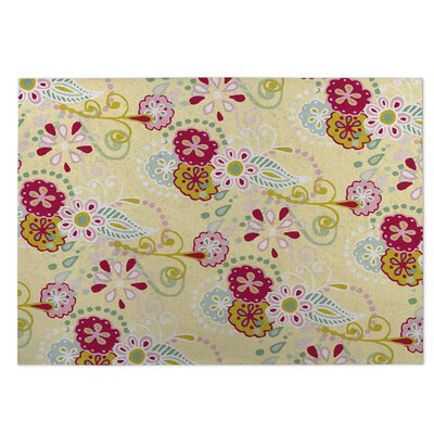 Yellow Indoor/Outdoor Doormat Rug Size: 8 x 10