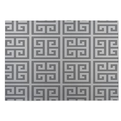 Ginger Gray Indoor/Outdoor Doormat Rug Size: 8 x 10