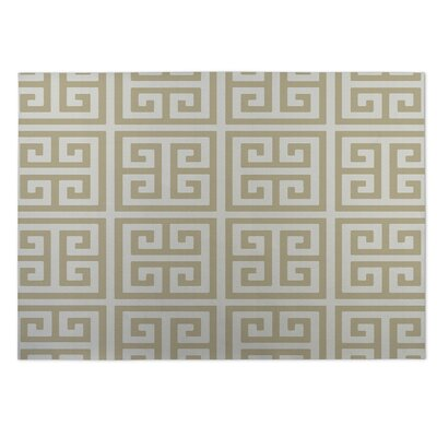 Ginger Beige Indoor/Outdoor Doormat Rug Size: 4 x 5