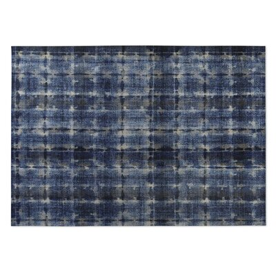 Shibori Indoor/Outdoor Doormat Color: Denim