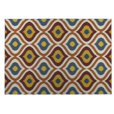 Orange/Red Indoor/Outdoor Doormat Rug Size: 8 x 10