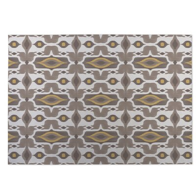 Mojave Indoor/Outdoor Doormat Color: Taupe/Yellow