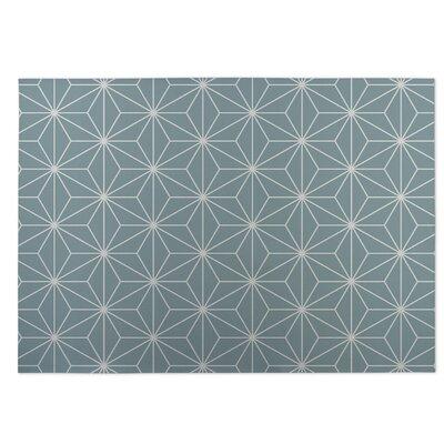 Gray Indoor/Outdoor Doormat Rug Size: 5 x 7