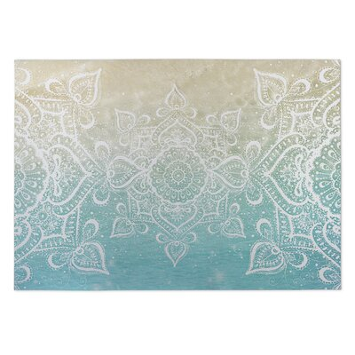 Dream of the Beach Beige/Blue Indoor/Outdoor Doormat Rug Size: Rectangle 8 x 10