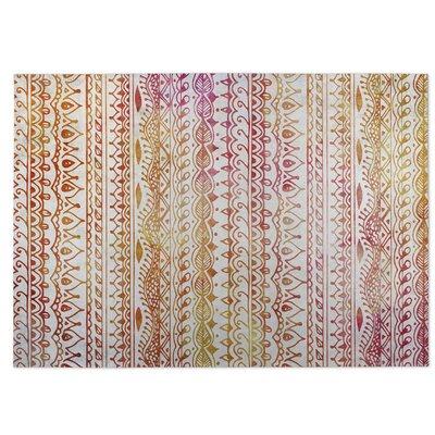 Orange/Red Indoor/Outdoor Doormat Rug Size: 5 x 7