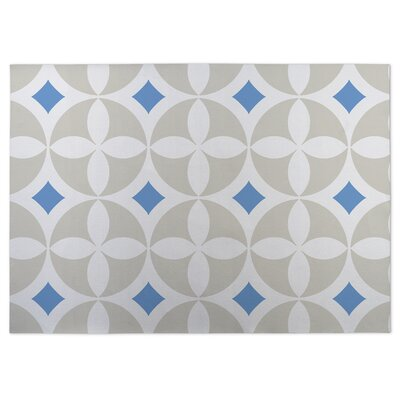 Blue/Gray Indoor/Outdoor Doormat Rug Size: Square 8