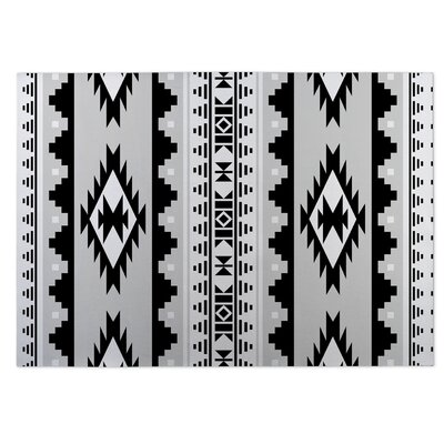 Gray/Black Indoor/Outdoor Doormat Rug Size: 4 x 5