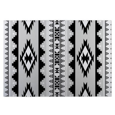Gray/Black Indoor/Outdoor Doormat Mat Size: Rectangle 4 x 5