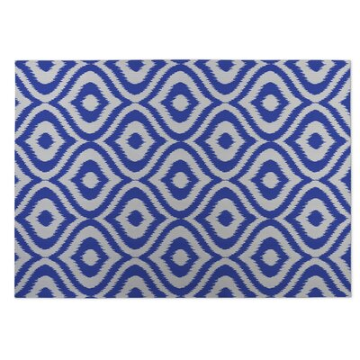 Blue Indoor/Outdoor Doormat Rug Size: 5 x 7