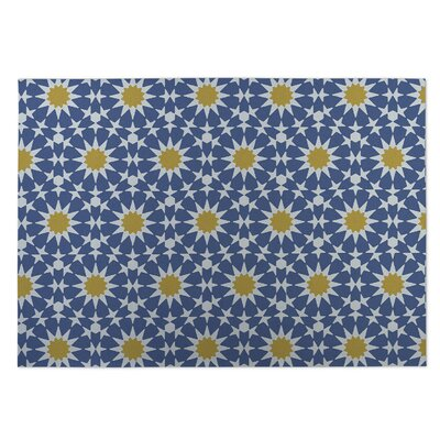 Sun Burst Indoor/Outdoor Doormat Color: Azure