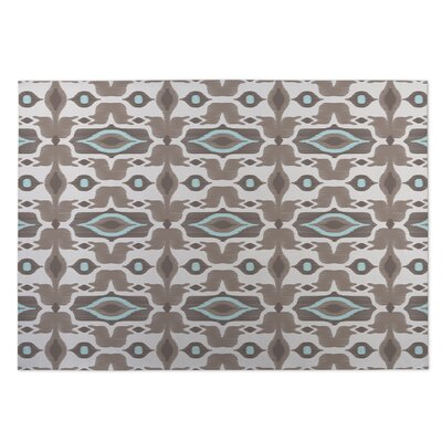 Mojave Beige/Brown Indoor/Outdoor Doormat Rug Size: 5 x 7
