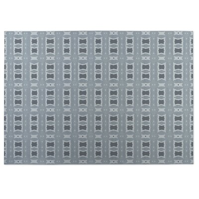 Crossroads Gray Indoor/Outdoor Doormat Rug Size: Square 8'
