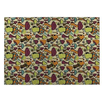 Beige Indoor/Outdoor Doormat Rug Size: Square 8