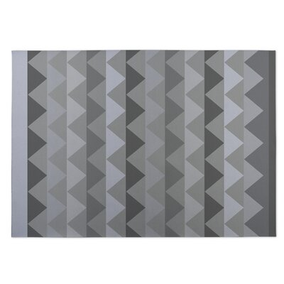 White Caps Gray Indoor/Outdoor Doormat Rug Size: 5 x 7