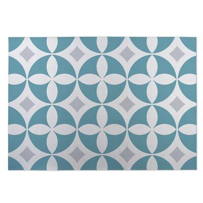 Blue Indoor/Outdoor Doormat Rug Size: 4 x 5