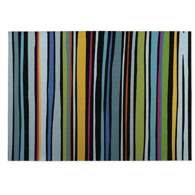 Striped Indoor/Outdoor Doormat Color: Blue/ Yellow/ Red