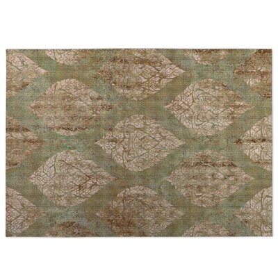 Ascent Brown/Green Indoor/Outdoor Doormat Rug Size: 4 x 5