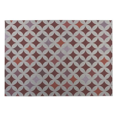 Brown/Orange Indoor/Outdoor Doormat Mat Size: Square 8