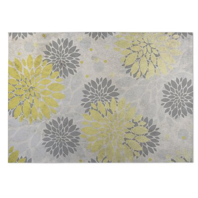 Bloom Indoor/Outdoor Doormat Color: Yellow/Gray