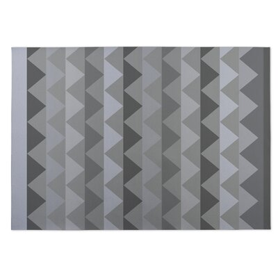 White Caps Gray Indoor/Outdoor Doormat Rug Size: 8 x 10