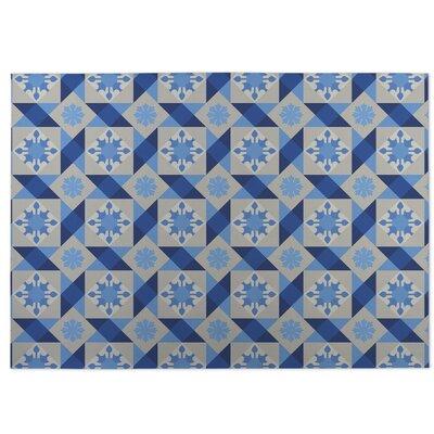 Blue Indoor/Outdoor Doormat Rug Size: 5 x 7