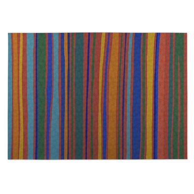 Orange Indoor/Outdoor Doormat Rug Size: 5 x 7