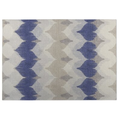 Blue/Beige Indoor/Outdoor Doormat Rug Size: 5 x 7