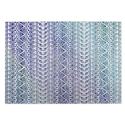 Ocean Breeze Purple/Blue Indoor/Outdoor Doormat Rug Size: 4 x 5