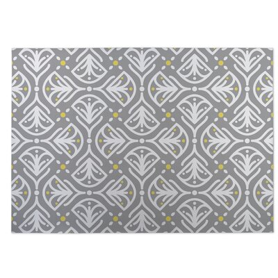 Kissing Tulips Gray Indoor/Outdoor Doormat Rug Size: 5 x 7