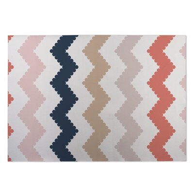 Play Chevron Beige Indoor/Outdoor Doormat Rug Size: 5 x 7