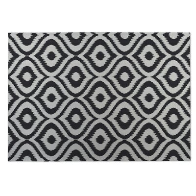 Black/Gray Indoor/Outdoor Doormat Rug Size: Square 8
