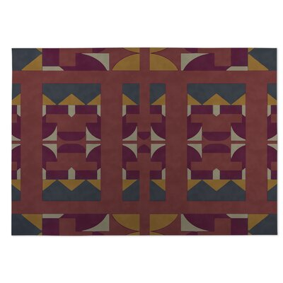 Yellow/Red Indoor/Outdoor Doormat Rug Size: 8 x 10