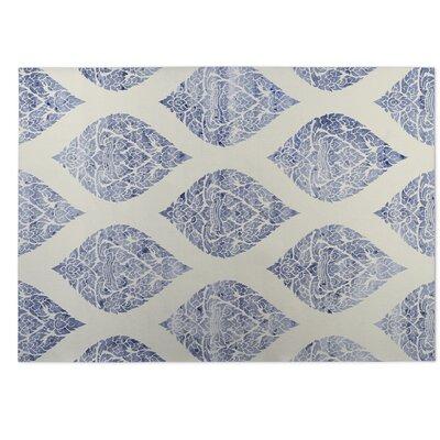 Dancing Beige/Blue Indoor/Outdoor Doormat Rug Size: 5 x 7