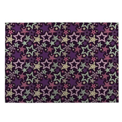 Purple Indoor/Outdoor Doormat Rug Size: 4 x 5