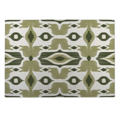 Cosmos Indoor/Outdoor Doormat Color: Ivory/ Green
