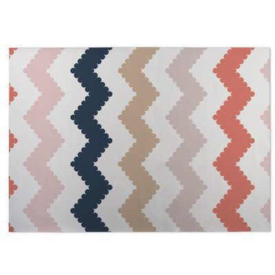 Play Chevron Beige Indoor/Outdoor Doormat Rug Size: 4 x 5