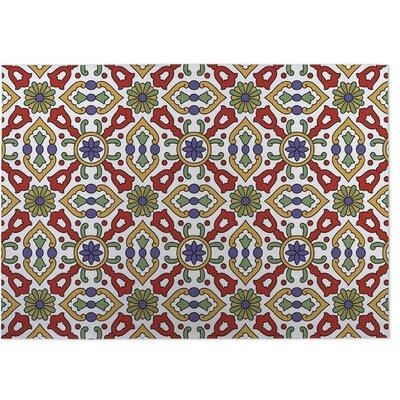 Red/Green Indoor/Outdoor Doormat Rug Size: 8 x 10