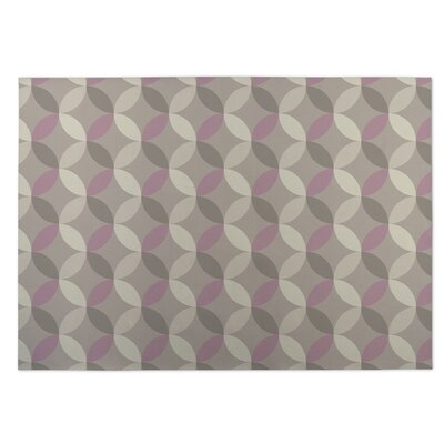 Gray/Purple Indoor/Outdoor Doormat Rug Size: 5 x 7