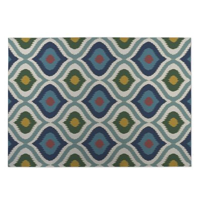 Blue/Green Indoor/Outdoor Doormat Rug Size: 5 x 7