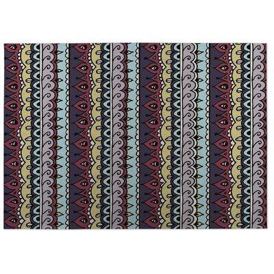 Purple/Red Indoor/Outdoor Doormat Rug Size: 8 x 10